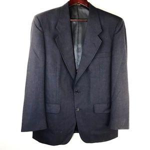 Christian Dior Monsieur Mens Suit Jacket Coat Blue